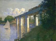 Железнодорожный мост в Аржантее, 1874 - Моне, Клод