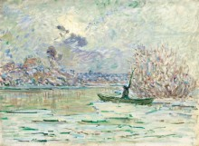 Зима, около Лавакурта, 1880 - Моне, Клод
