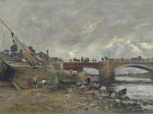 Прачки возле моста, 1878 - Буден, Эжен