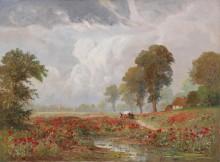 Летний пейзаж с маковым полем - Арнеггер, Алоис