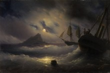 Гибралтар ночью - Айвазовский, Иван Константинович