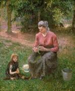 Крестьянка с ребенком, Эраньи - Писсарро, Камиль