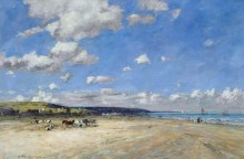 Пляж в Туржвиле - Буден, Эжен
