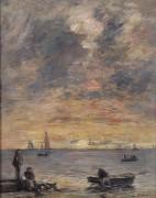 Морской пейзаж на закате - Буден, Эжен