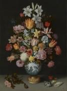 Натюрморт с цветами в  вазе  Ван-Ли - Босхарт, Амброзиус (Старший)