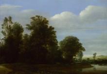 Пейзаж с рекой у леса - Вром, Корнелис