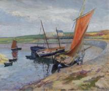 Лодки на морском побережье - Мадлин, Поль
