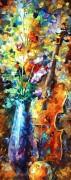 Цветы и скрипка - Афремов, Леонид