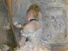 Дама у зеркала (Женщина за туалетом) - Моризо, Берта