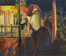 Сэр Галахад в руинах часовни - Россетти, Данте Габриэль