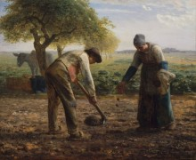 Посадка картофеля - Милле, Жан-Франсуа