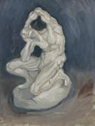 Гипсовая модель коленопреклоненного мужчины (Plaster Model of a Kneeling Man), 1886 - Гог, Винсент ван