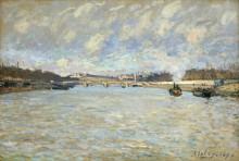 Сена в Париже у моста Гренель - Сислей, Альфред