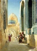 Фигуры на улице близ мечети - Зоммер, Рихард Карлович