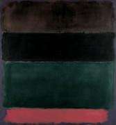 Коричневый, черный, зеленый красный - Ротко, Марк