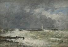 Пристань в Гавре в штормовую погоду - Буден, Эжен
