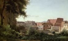 Вид на Колизей от садов Фарнезе - Коро, Жан-Батист Камиль