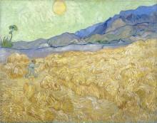 Пшеничное поле со жнецом на рассвете (Wheat Fields with Reaper at Sunrise), 1889 - Гог, Винсент ван