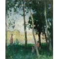 Женщина у воды (Women near the Water) - Монтезин, Пьер Эжен