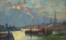 Порт и собор в Руане, 1892 - Лебург, Альберт