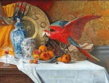 Натюрморт с попугаем - Моро, Адриан