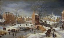 Зимний пейзаж - Брейгель, Ян (младший)
