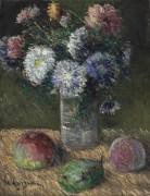 Букет цветов и фрукты - Луазо, Гюстав