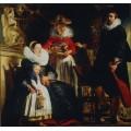 Портрет семьи художника - Йорданс, Якоб