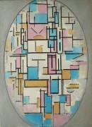 Композиция с овальными и цветными плоскостями I - Мондриан, Пит
