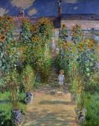 Сад Моне в  Ветёе, 1880 - Моне, Клод
