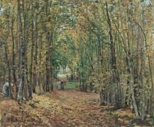 Лес в Марли, 1871 - Писсарро, Камиль