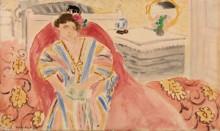 Женщина на красной софе - Матисс, Анри