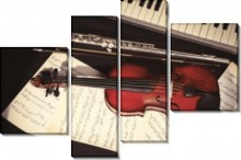 Скрипка и пиано. - Сток