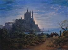 Готическая церковь на скале у моря - Шинкель, Карл Фридрих