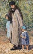 Мария-Луиза с внуками в Люксембургском саду - Мартен, Анри Жан Гийом