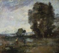 Летний пейзаж - Коро, Жан-Батист Камиль