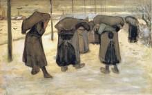Жены шахтеров с мешками угля (Miners' Wives Carrying Sacks of Coal), 1882 - Гог, Винсент ван