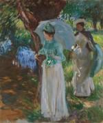 Две девушки с зонтиками - Сарджент, Джон Сингер