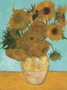 Натюрморт. Ваза с двенадцатью подсолнухами (Still Life - Vase with Twelve Sunflowers), 1889 - Гог, Винсент ван