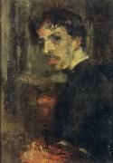 Маленький портрет художника известный как маленькая голова, 1879 - Энсор, Джеймс