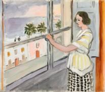 Молодая женщина у окна. Закат - Матисс, Анри
