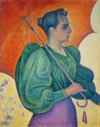 Женщина с зонтиком - Синьяк, Поль