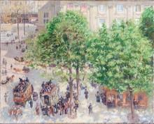 Пляс-дю-театр Франция - весна, 1898 - Писсарро, Камиль