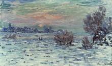 Сена в Лавакуре зимой - Моне, Клод
