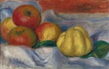 Натюрморт с яблоками и айвой - Ренуар, Пьер Огюст