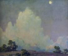 Вечерние облака и восходящая луна, 1942 -  Каран, Чарльз Кортни