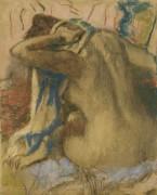 Дама сушит волосы, 1885 - Дега, Эдгар