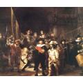 Выступление стрелковой роты капитана Франса Баннинга Кока и лейтенанта Виллема ван Рёйтенбюрга, 1642 - Рембрандт, Харменс ван Рейн