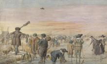 Охотник показывает выдру - Аверкамп, Хендрик