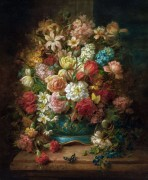Натюрморт с цветами и бабочками - Зацка, Ханс